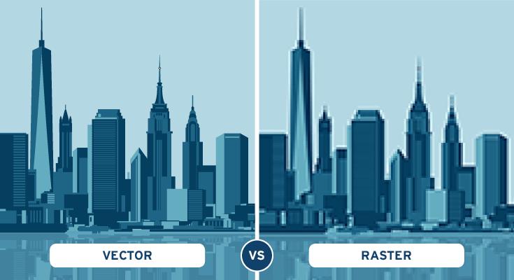 vector vs raster cosa è un'immagine vettoriale e perchè realizzarla