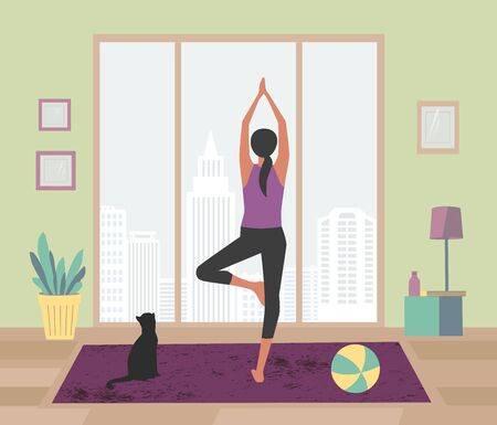 E-learning e apprendimento a distanza: lezione di yoga a casa